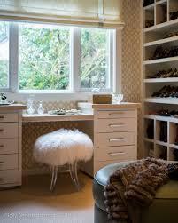 Acrylic Vanity Table Sheepskin And Acrylic Vanity Stool Transitional Closet