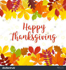 happy thanksgiving day banner autumn leaves stock vector 513152806
