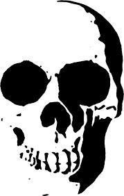 skull stencil template scroll saw patterns