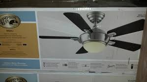 Model Ac 552 Ceiling Fan by Hampton Bay 44 In Midili Fan Brushed Nickel 68044 Ceiling