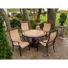 monaco dining table hanover monaco 7 piece outdoor dining set seats 6 walmart com