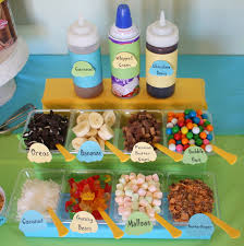sundae bar toppings ice cream party ideas