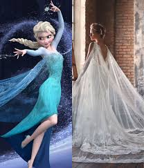 elsa wedding dress modern wedding dresses for every disney princess elsa