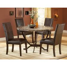 Round Dining Room Table And Chairs Hillsdale Furniture Monaco 5 Piece Matte Espresso Dining Set