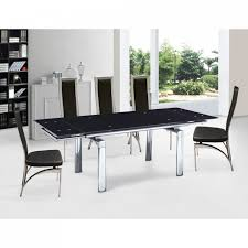 Black Glass Extending Dining Table Dining Room Contemporary Dining Room Design With Expandable