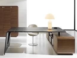 bureau angle design bureau de direction d angle en cuir tannée avec tiroirs sestante