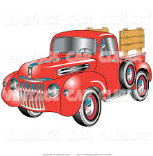 wooden pickup truck red pickup truck clipart 22
