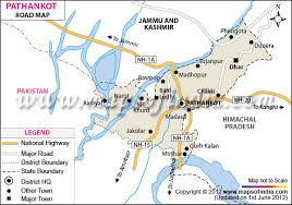 map ot pathankot road map