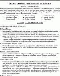 Banking Project Manager Resume Fantastical Technical Project Manager Resume 10 It Director Sample