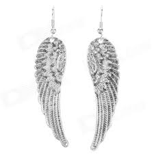 womens earrings retro angel wings style zinc alloy women s earrings silver