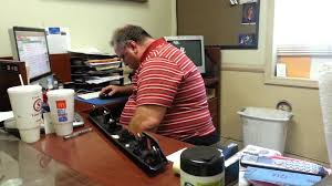Sleeping At Your Desk Big Man Falling Asleep At His Desk And Hear What Happens At The
