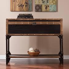 harper blvd duncan travel trunk console sofa table free