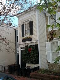 a home said to be a spite house in georgetown washington dc in