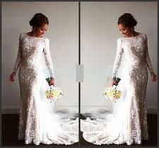 lace satin ball gown duchess long sleeve wedding dresses ebay