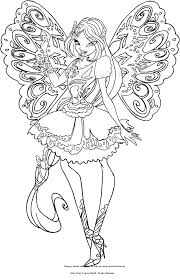 Drawing Flora butterflix Winx Club Coloring Page Winx Club Coloring