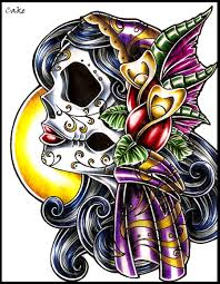 skull gypsy lady tattoo design by cakekaiser on deviantart
