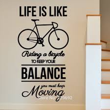 online get cheap bike wall art aliexpress com alibaba group motivational bike inspirational moving wall art sticker decal home diy decoration decor wall mural removable room
