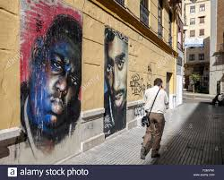 mural painting by 1free of b i g and tupac in malaga soho art mural painting by 1free of b i g and tupac in malaga soho art district andalusia spain