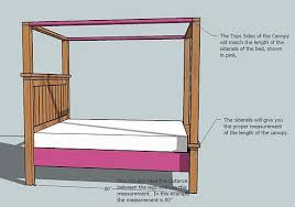 bed designs plans white farmhouse bed canopy diy projects