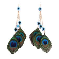 feather earing wholesale feather jewelry peacock feather earring
