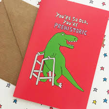 dinosaur birthday dinosaur birthday card age card by ladykerry illustrated gifts