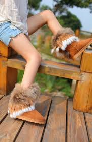 s ugg like boots 2014 ugg fox fur ankle boots that all would like to wear in