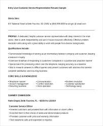 entry level customer service representative resume examples u2013 inssite