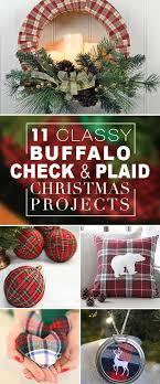 plaid christmas 11 buffalo check plaid christmas projects decorating your