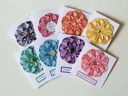 Homemade Flowers Simple Homemade 3 D Card Idea Origami Dahlia Flowers Using