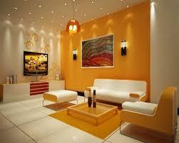 Orange Floor L Orange Fabric Cushion Features Trumpet Shaped White Vinyl Wall