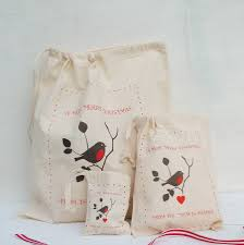 personalised christmas robin gift bags by seahorse