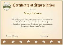 20 professional army certificate of appreciation templates
