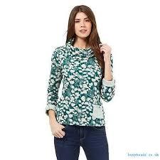 mantaray clothing women roll mantaray green green print knitwear neck