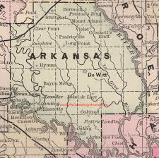 me a map of arkansas arkansas county arkansas 1889 map