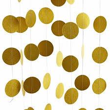glitter gold decorations garland circle paper