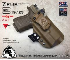 surefire light for glock 23 kydex holster ares glock 23 with surefire xc1 and rmr