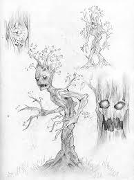 tree people pencil sketch by de prime on deviantart