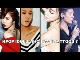 kpop idols who have tattoos youtube