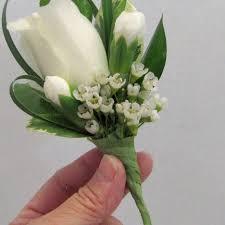boutonniere flower white boutonniere adding wax flower filler