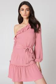 balloon dress slip shoulder balloon sleeve dress na kd