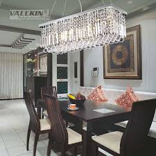 Chandelier For Dining Room Vallkin Modern Rectangular Crystal Chandelier Dining Room Length