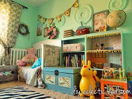childs bedroom diy eclectic child s bedroom love the pom pom trim and the craft