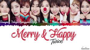 트와이스 merry happy lyrics color coded han rom eng