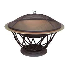 wood fire pit table 2 wood fire pits outdoor heating the home depot