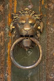 lion head door knocker stock photos royalty free lion head door