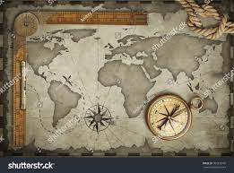 Old Map Background Old Map Background Compass Ruler Stock Illustration 709338706