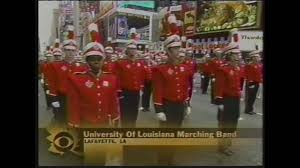2005 ull band at macy s thanksgiving day parade on cbs