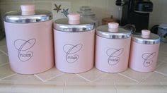pink kitchen canister set vintage retro 4 pc pink plastic canister set ebay i would a