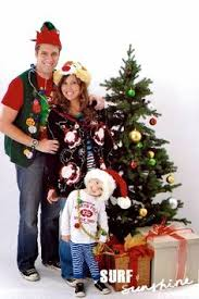 hilarious staged ugly sweater shoot for christmas cards