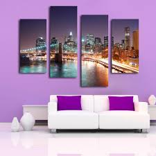 2017 gift large hd cityscape light view top rated stretched canvas
